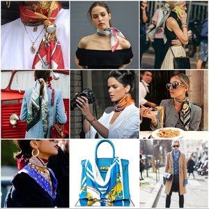 Vintage Silk Scarves Inspiration ❄️☃️🌿🍃